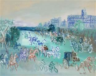 Jean Dufy French, 1888-1964 Bois de Boulogne Signed