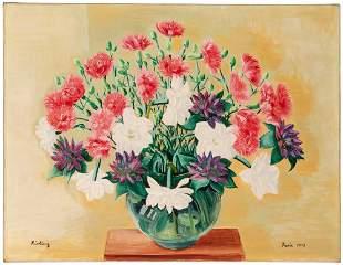Moise Kisling Polish/French, 1891-1953 Fleurs, 1938
