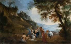 Roman School 17th Century The Baptism of Christ
