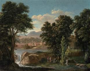 Jean Victor Bertin French, 1775-1842 Idyllic Landscape