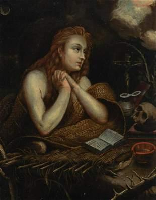 Circle of Gerrit Dou The Penitent Magdalene