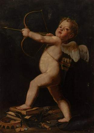French School 17th/18th Century Amor Vincit Omnia (Love
