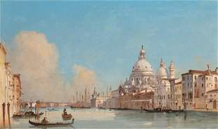 Ippolito Caffi Italian, 1809-1866 The Grand Canal, with