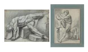 European School 18th/19th Century Studies of Male