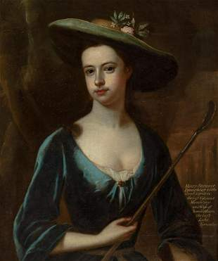 English School 18th Century Portrait of Mary Stewart as