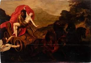Dutch School 17th Century Pluto Abducting Proserpina