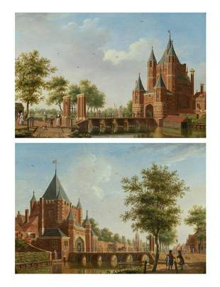 Isaac Ouwater Dutch, 1748-1793 Views of a Canal with a