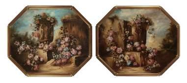 Italian School 19th-20th Century Floral Still Lifes:
