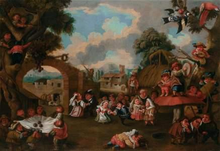 Enrico Albrici Italian, 1714-1775 Dwarfs Celebrating a