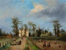 Jan Fabius Dutch, 1820-1889 A View of the Achterweg at