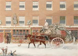 James Pollard English, 1792-1867 Christmas in Bowman's