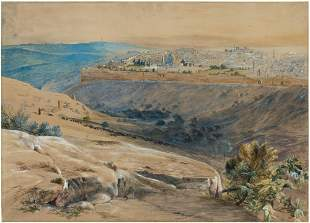 Edward Lear English, 1812-1888 View of Jerusalem from