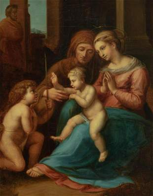 After Raphael Sanzio Madonna and Child with Saint Anne