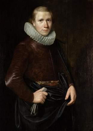 Attributed to Willem van der Vliet Portrait of a Young