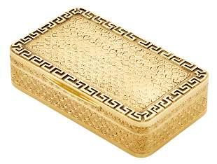 George III 18 Kt Gold Snuff Box