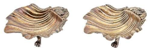 Pair of George III Sterling Silver Master Salts