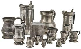 Group of Pewter Domestic Items