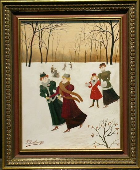 2004: Fernand Boilauges French, b.1891 SKATERS ON A FRO