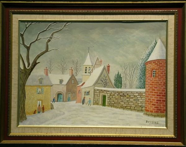 2006: Andre Bouquet French, b.1897 VILLAGE IN SNOW   Si