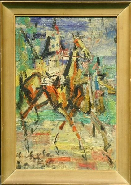 2019: Gen Paul French, 1895-1975 HORSE AND RIDER WITH A