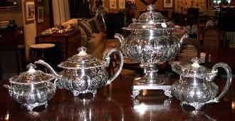 2598: Silver Plated Tea Service