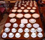 2667 Lenox Porcelain Gilt Decorated Assembled Dinner S