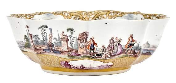 Meissen Porcelain Documentary Dated Ogival Quatrefoil