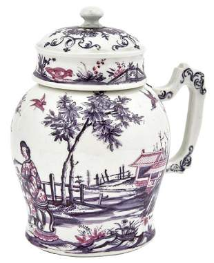 Vienna (du Paquier) Porcelain Tankard and Cover