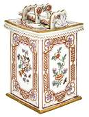 Vienna (du Paquier) Porcelain Tobacco Box, Cover and