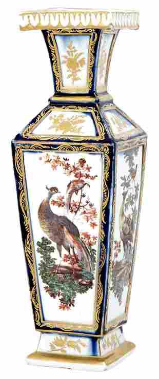 Chelsea Porcelain Mazarin-Blue Ground Vase