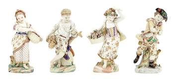 Set of Four Bristol (Richard Champion) Porcelain