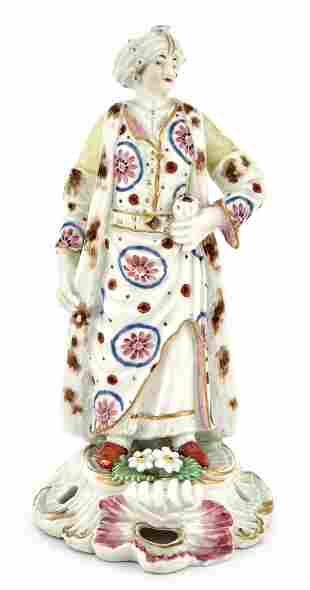 Worcester Porcelain Figure of the Turk's Companion or