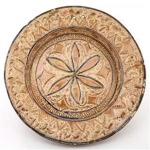 Hispano Moresque Copper-Lustre Tin-Glazed Earthenware