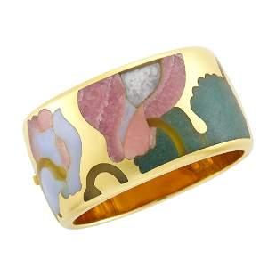 Tiffany & Co. Gold and Hardstone Cuff Bangle Bracelet
