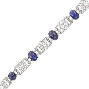 Chaumet Platinum, Cabochon Sapphire and Diamond