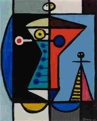 Charles Evans American, 1907-1992 Figure Composition,