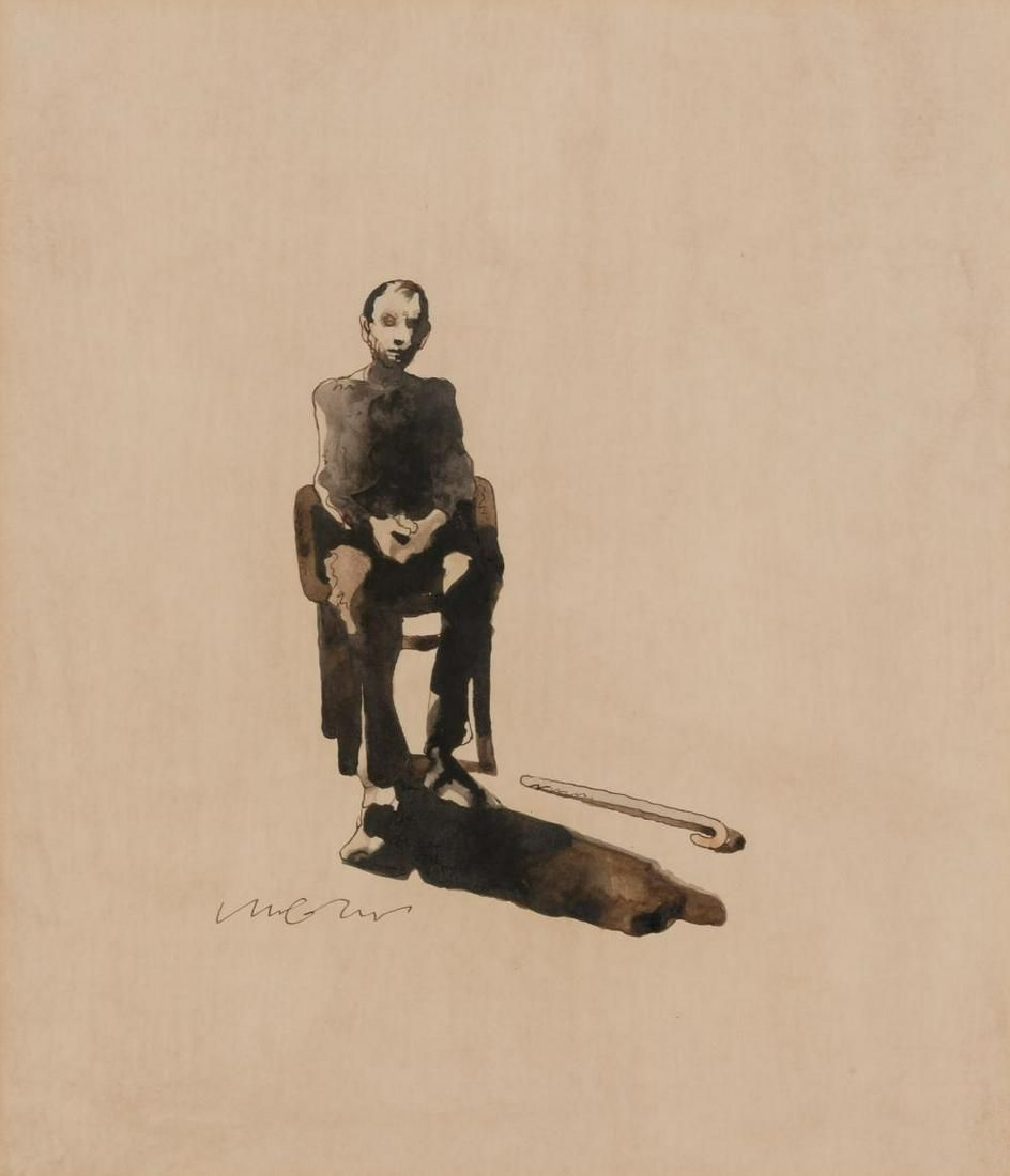 Milton Glaser American, 1929-2020 Untitled (Seated Man