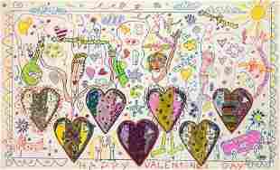 James Rizzi American, 1950-2011 Happy Valentines Day