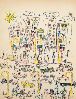 James Rizzi American, 1950-2011 Group of Works on Paper