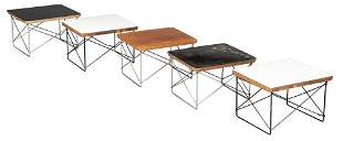 Three Charles and Ray Eames Laminated Wood and Steel