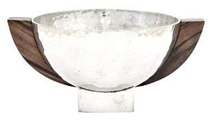Jean Després Art Deco Silver Plate Open Bowl