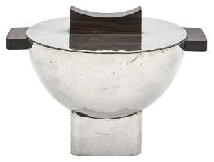 Jean Després Art Deco Silver Plate Covered Tureen