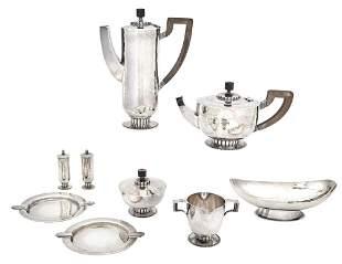 Charles Boynton Hand-Hammered Sterling Silver Tea &