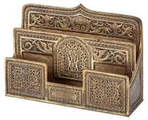 Tiffany Studios Gilt-Bronze Spanish Pattern Desk Paper