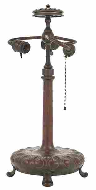 Tiffany Studios Bronze Table Lamp Base
