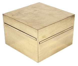 Gabriella Crespi Brass Magic Cube Table
