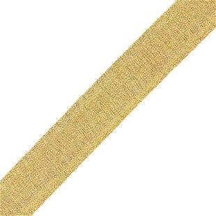 Attributed to Roberto Coin Wide Gold Mesh Bracelet