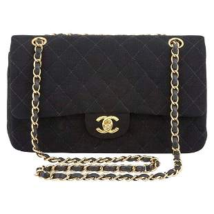 Chanel Black Cotton Quilted 2.55 Flap Bag