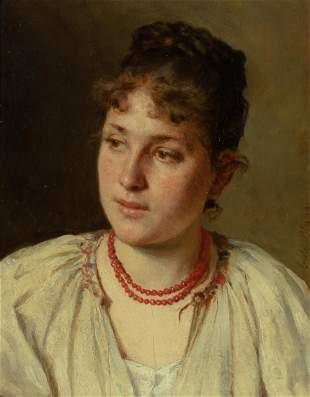 Eugene von Blaas Italian/Austrian, 1843-1932 Portrait