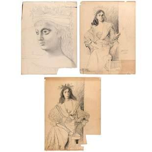 Byron Browne American, 1907-1961 Three works
